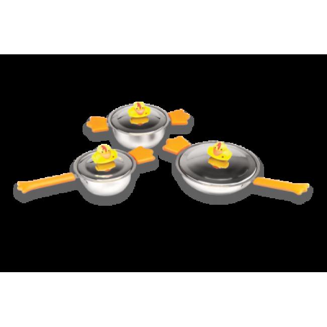 ست قابلمه استیل 6 پارچه کودک برگهف(Berghoff) -سری اردک کلانتر