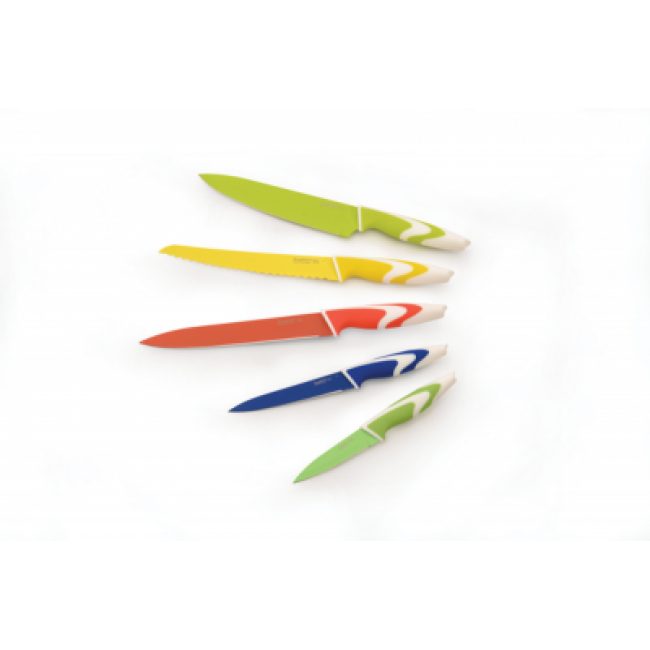 چاقوی 5 تکه رنگی با روکش سرامیک -برگهف (Berghoff)