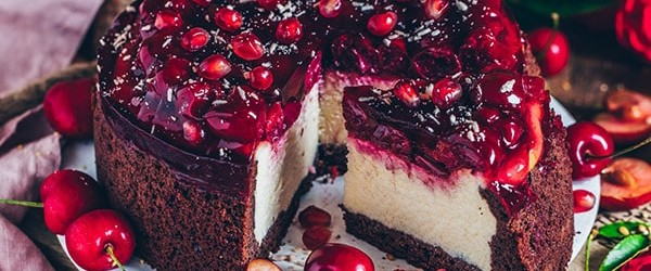 طرز تهیه چیز کیک انار
